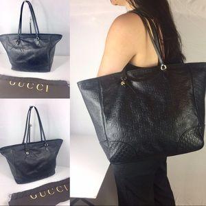 ❤️GUCCI❤️ large leather bree zipper tote
